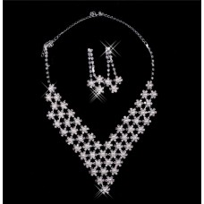 Gorgeous Shining pearl Wedding Bridal Jewelry Set,Including Necklace Earrings