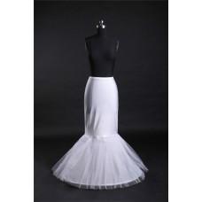 Mermaid Fitted Jersey Tulle Hooped Fish Cut Wedding Bridal Crinoline Petticoat