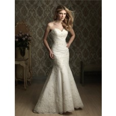 Mermaid Sweetheart Fit And Flare Lace Wedding Dress With Sequins Beading