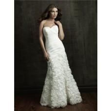 Mermaid Sweetheart Organza Ruffle Floral Wedding Dress With Bolero Jacket