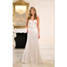 Sexy Mermaid Sweetheart Cut Out Satin Tulle Beaded Wedding Dress See Through Back