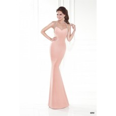 Slim Halter Sweetheart Open Back Blush Pink Satin Special Occasion Evening Dress
