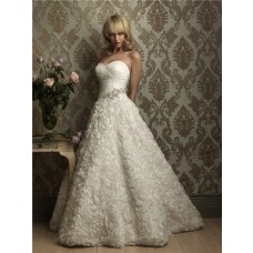Unique Ball Gown Sweetheart Floral Wedding Dress With Beading Crystals