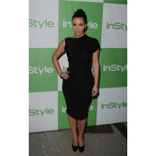 Unusual Asymmetric Short Kim Kardashian Inspired Little Black Dress