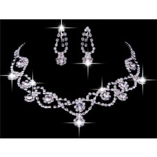 Gorgeous Shining Allory Rhinestones Wedding Bridal Jewelry Set,Including Necklace And Earrings
